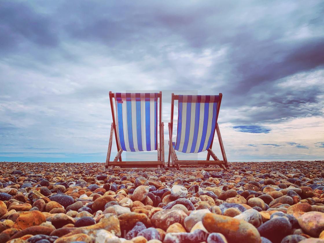 """Brighton Beach Dreaming"" stock image"