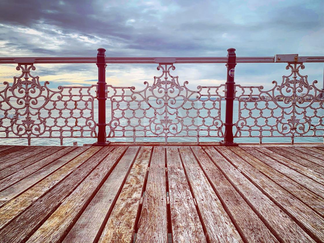 """Brighton Pier Boards"" stock image"