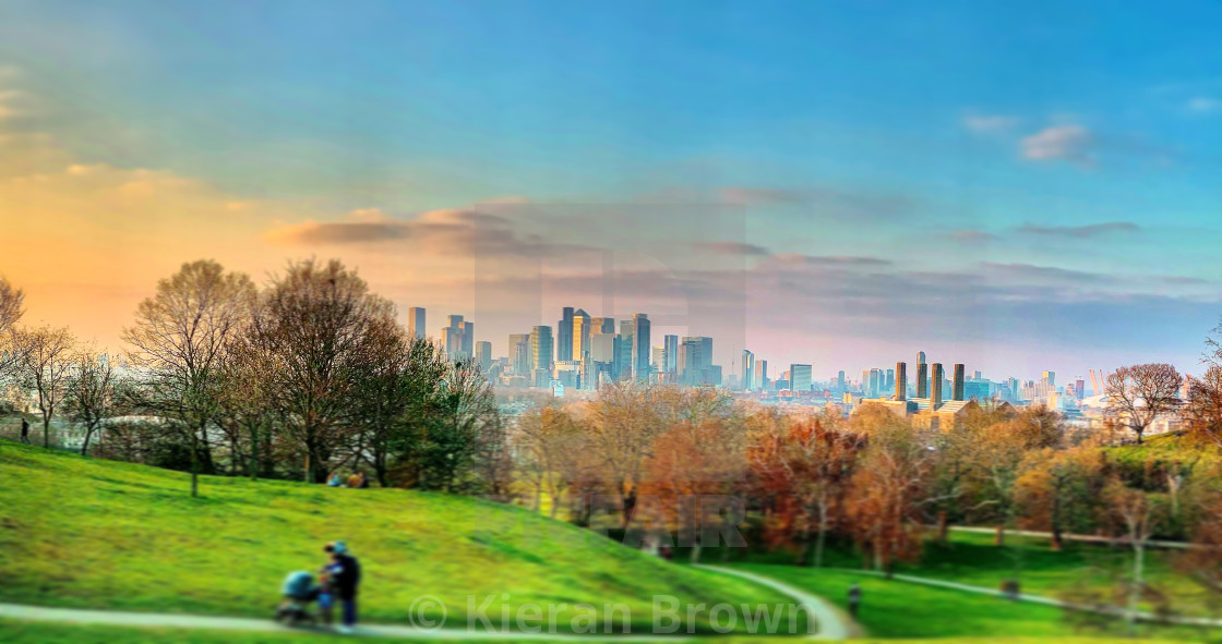 """""""Putting the Green In Greenwich"""" stock image"""