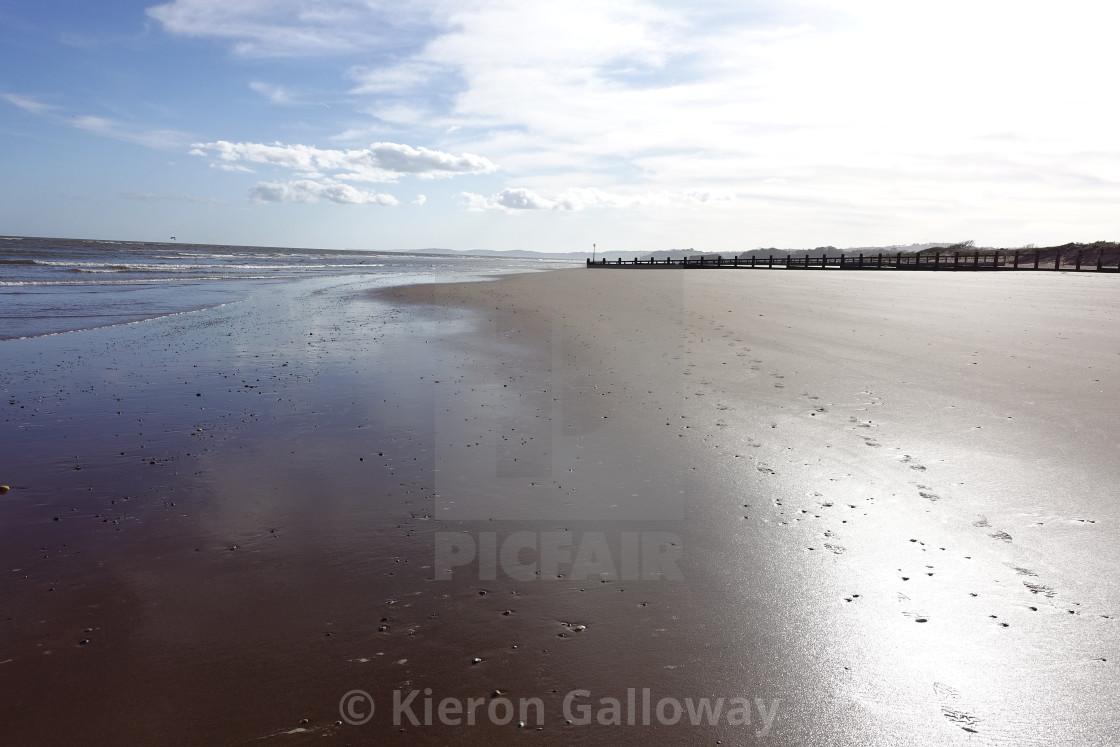 """UK Beach Scene Devon - deserted beach"" stock image"
