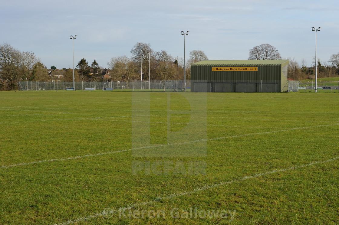 """""""Basingstoke Rugby Club Ground, Hampshire, UK"""" stock image"""