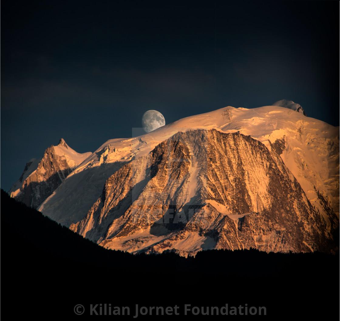 """Moon Blanc"" stock image"