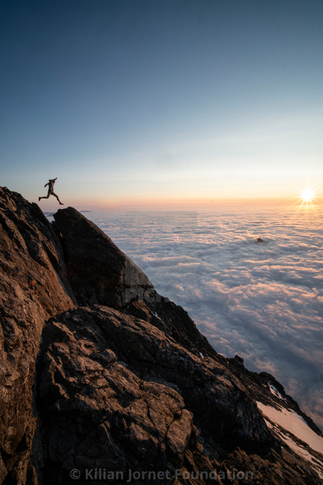 """""""Into the clouds"""" stock image"""