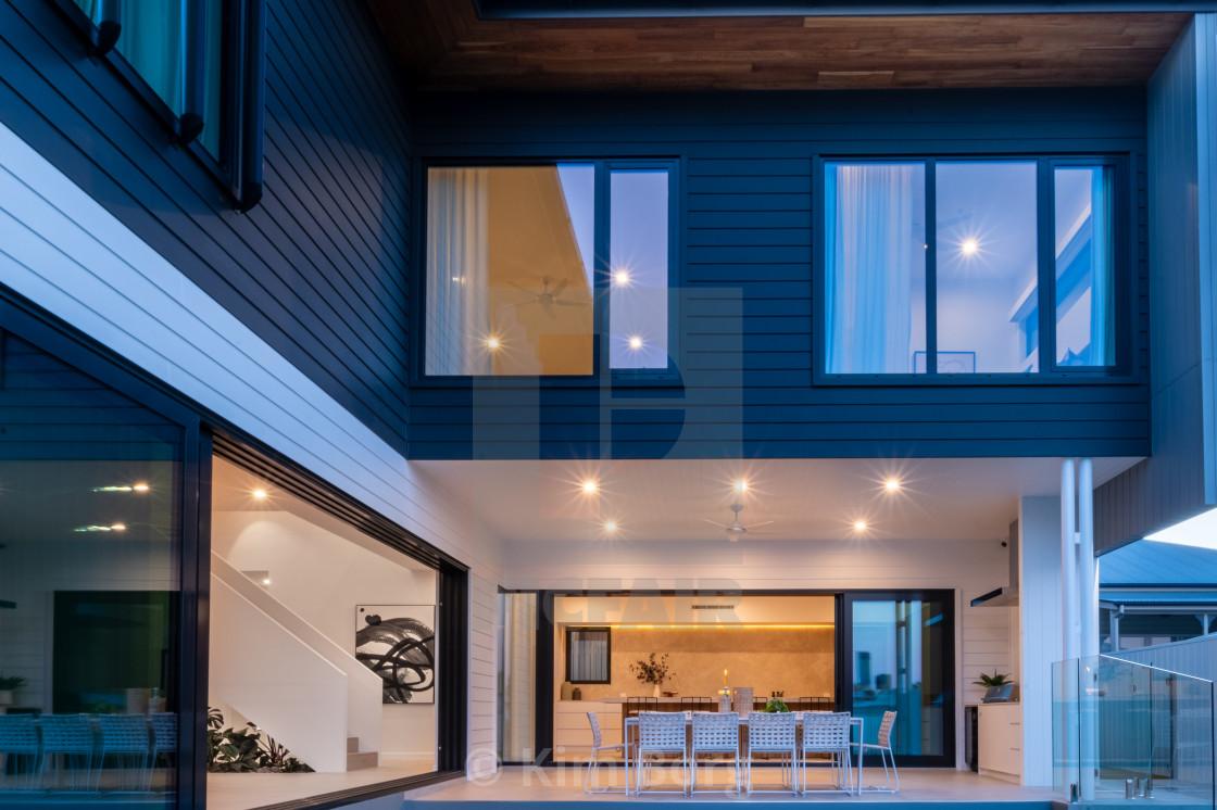 """Luxury Home Alfresco"" stock image"