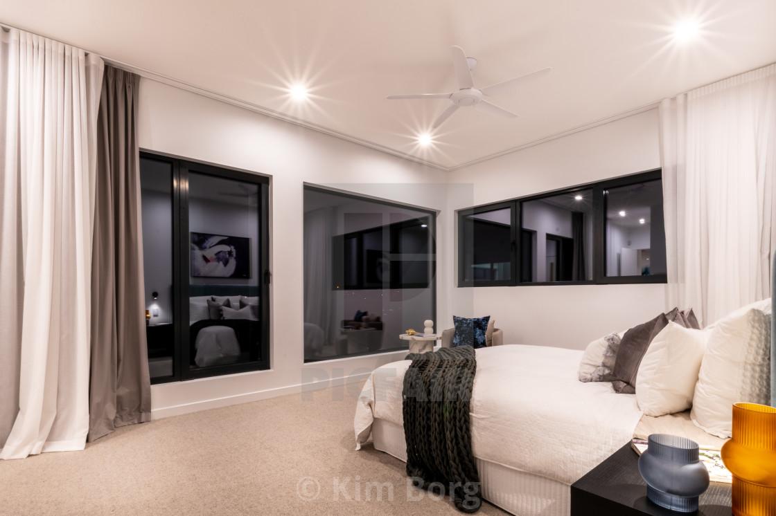 """Luxury Home Master Bedroom"" stock image"