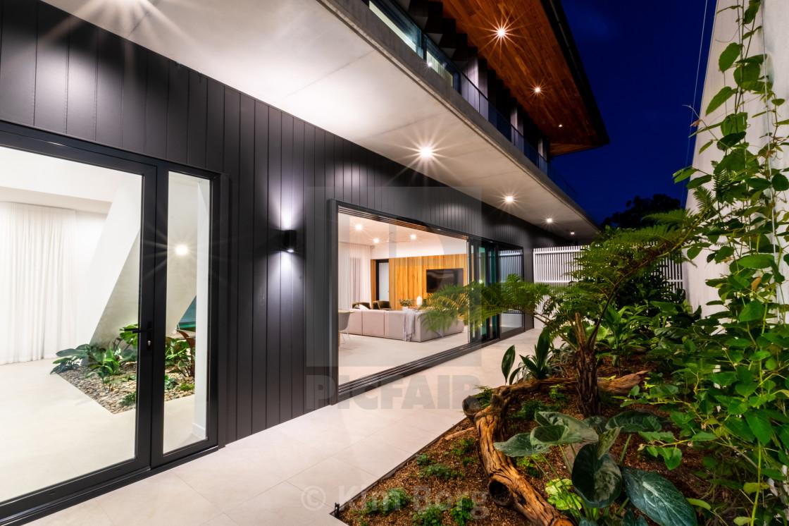 """Luxury Home Living Gardens"" stock image"