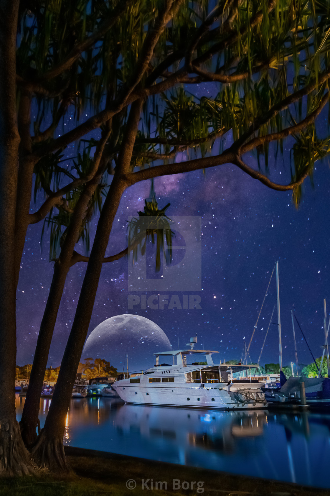 """Mystical Marina Nights"" stock image"