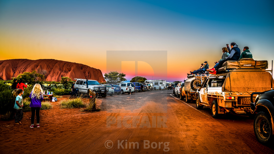"""'Closing Time' Uluru"" stock image"