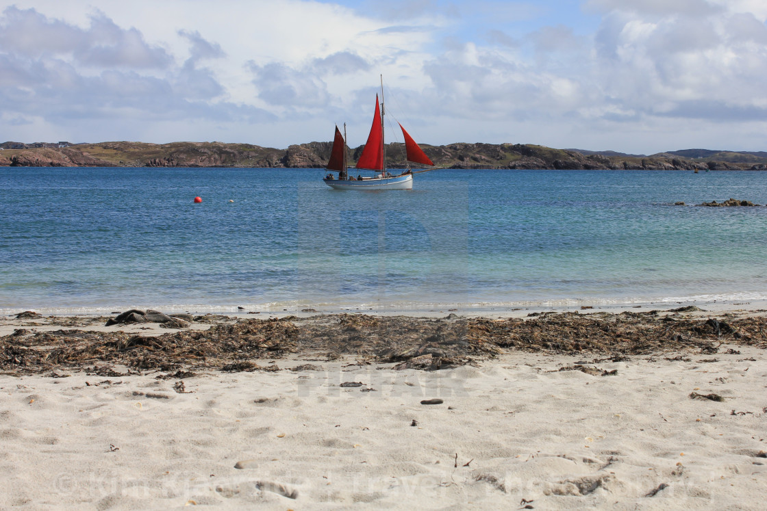 """""""Watching the world go by on the Isle of Iona"""" stock image"""