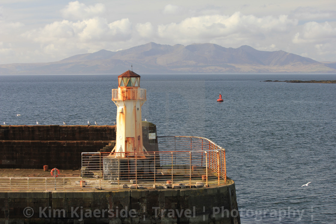 """""""Dreaming of being back on the Isle of Arran"""" stock image"""