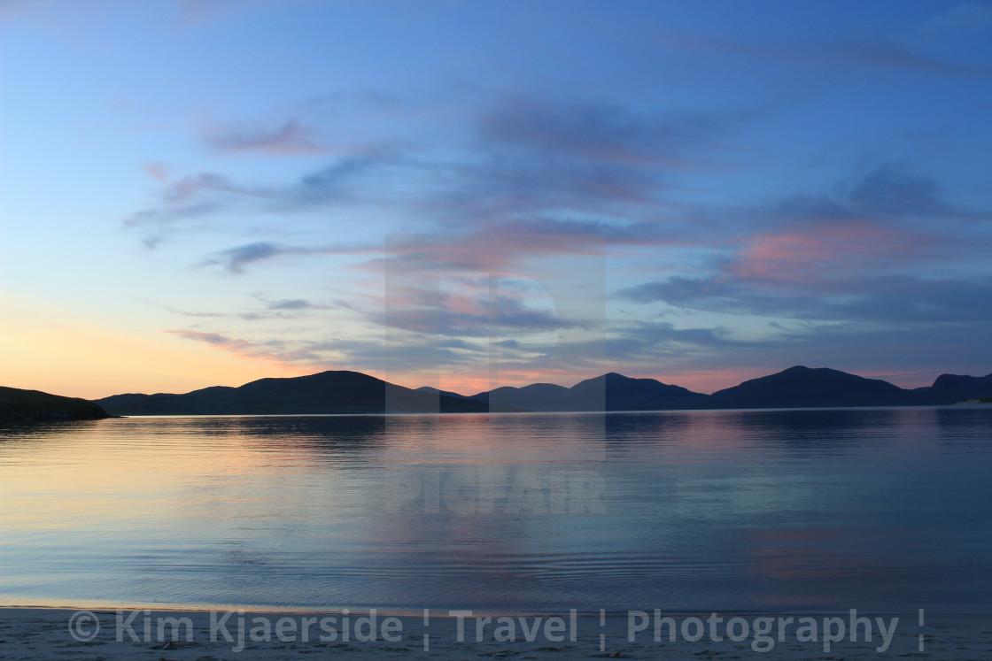 """An Isle of Harris Sunset"" stock image"