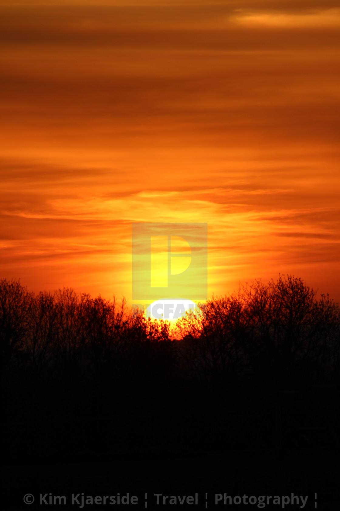 """Lockdown Sunrise Scotland"" stock image"