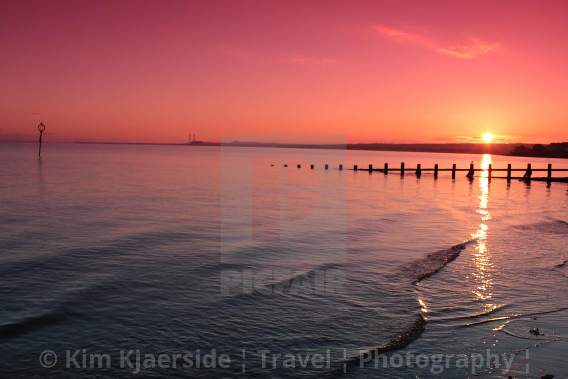"""Portobello Beach Sunrise"" stock image"