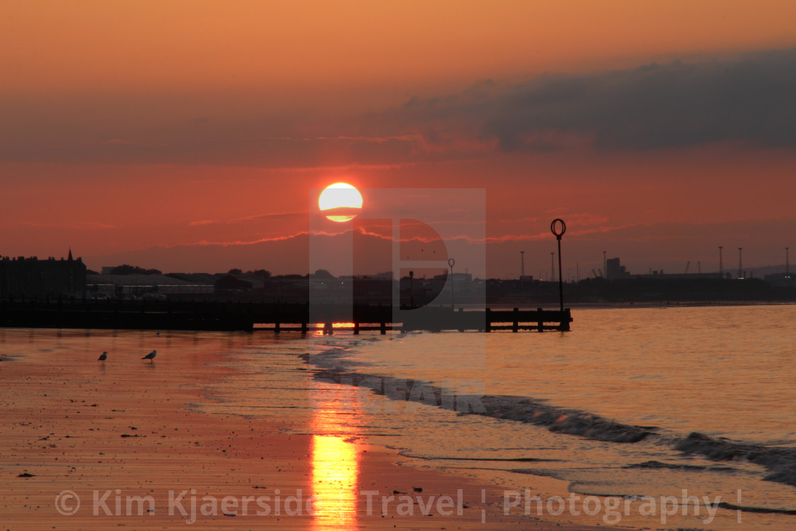 """Portobello Beach sunset"" stock image"