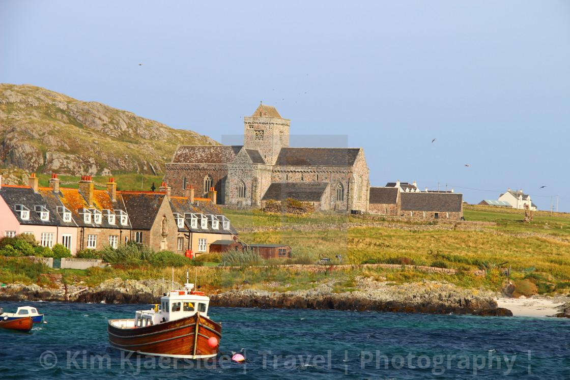 """Iona Abbey, Isle of Iona"" stock image"