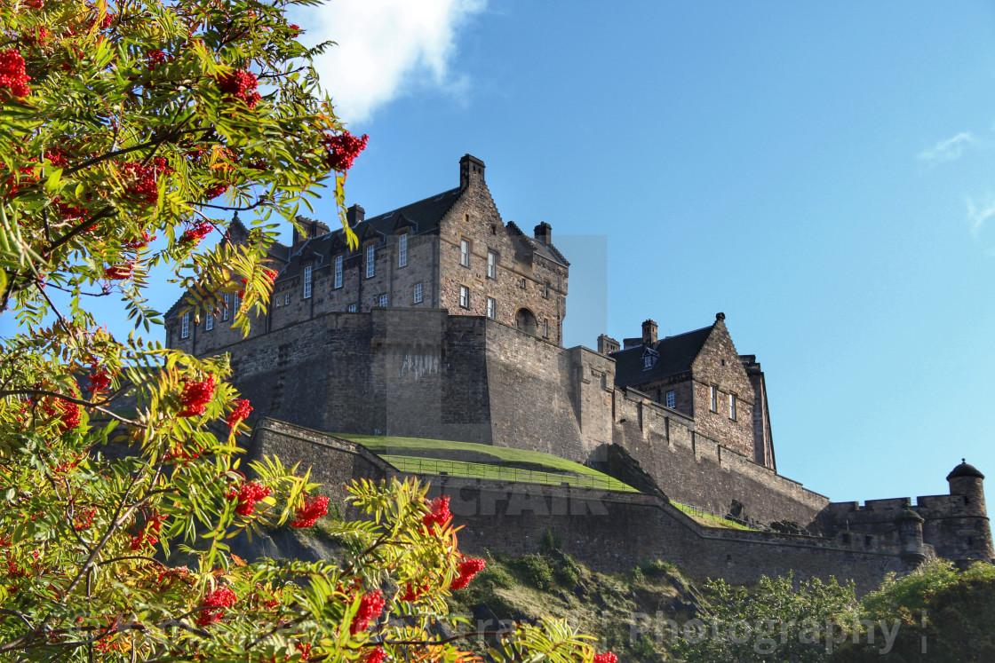 """""""Autumn Colours by Edinburgh Castle"""" stock image"""