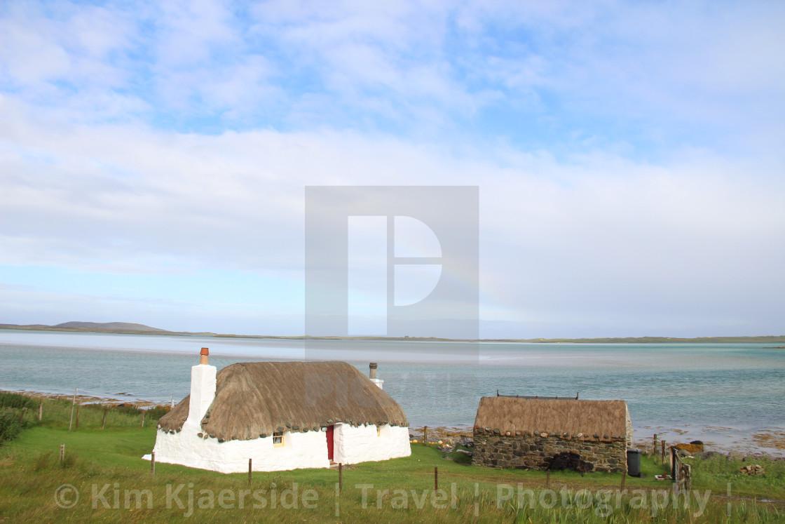 """Outer Hebrides Cottages"" stock image"