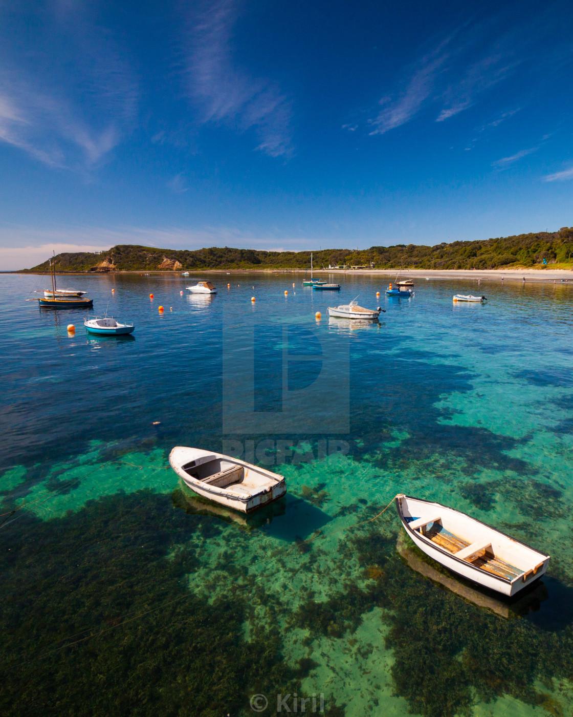 """Flinders boat ramp"" stock image"