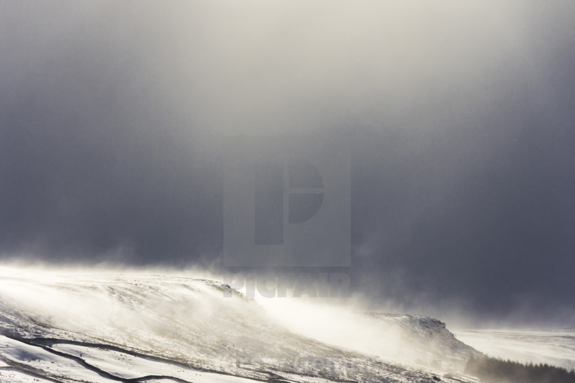 """Snow on the Moors"" stock image"