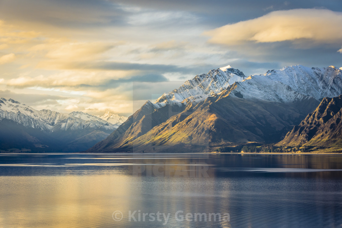 """Hawea Sunset"" stock image"