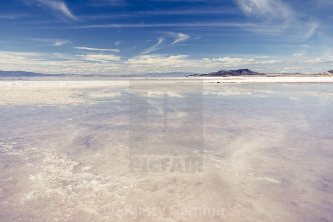"""Salt Flat Reflection"" stock image"