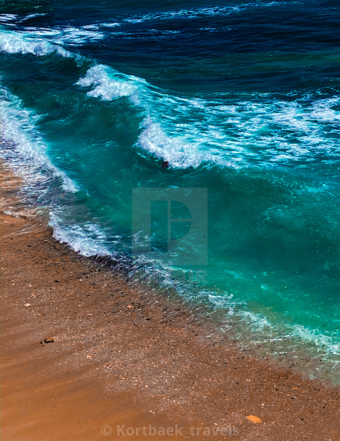 """Dream Beach on the Indonesian island of Nusa Lembongan - Ice edit"" stock image"