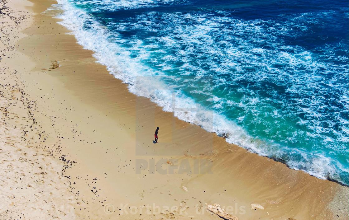 """Dream Beach on the Indonesian island of Nusa Lembongan"" stock image"