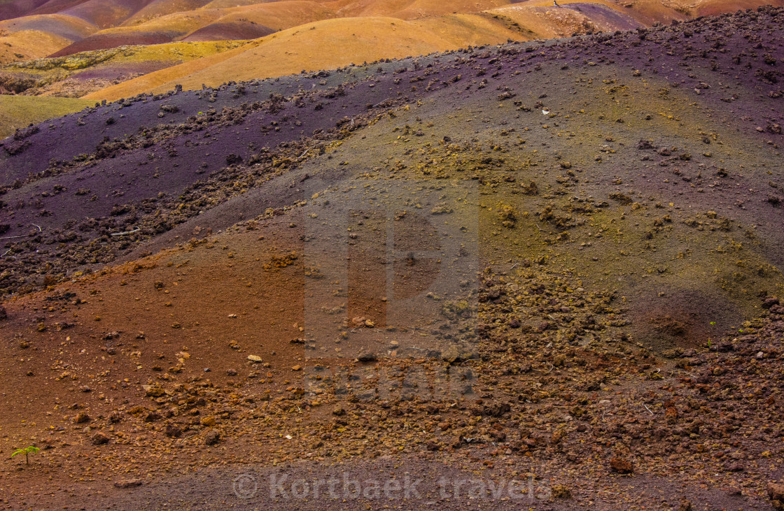 """The seven coloured earths - Chamarel, Mauritius"" stock image"