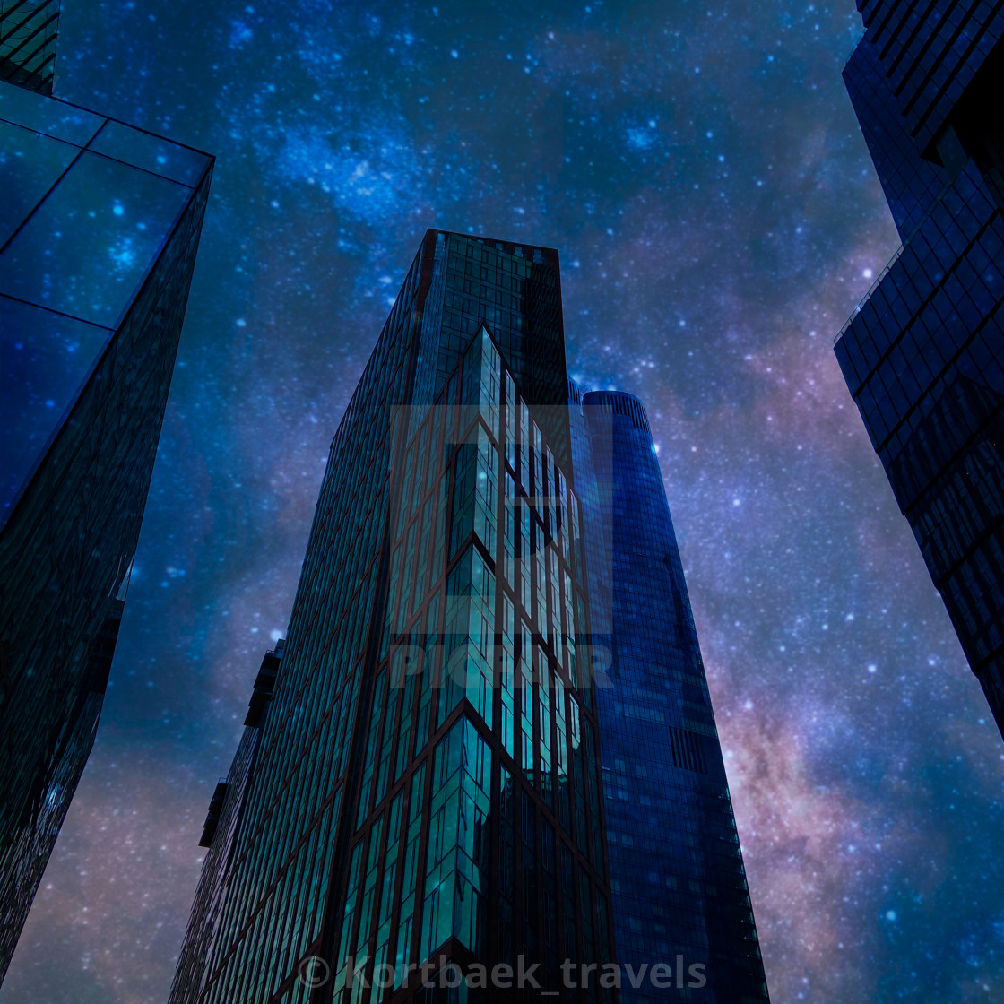 """Manhattan by night"" stock image"