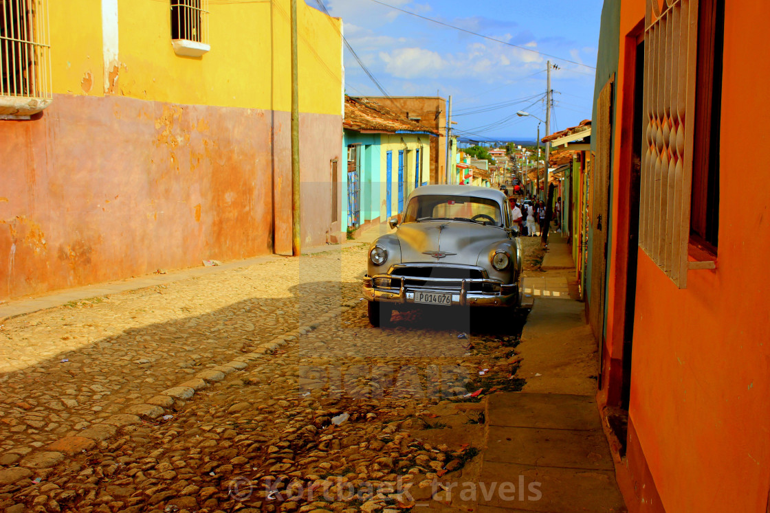 """Classic car in Trinidad, Cuba"" stock image"