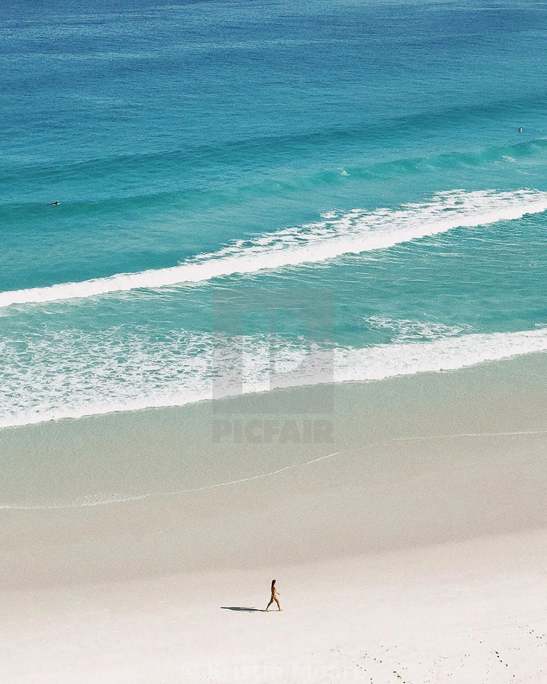 """""""My wife with beach"""" stock image"""