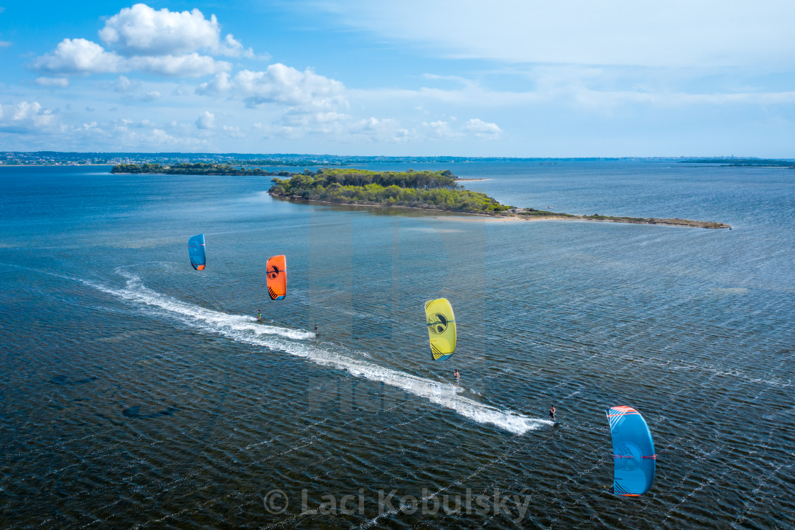 """Kiteboarding Sicily"" stock image"
