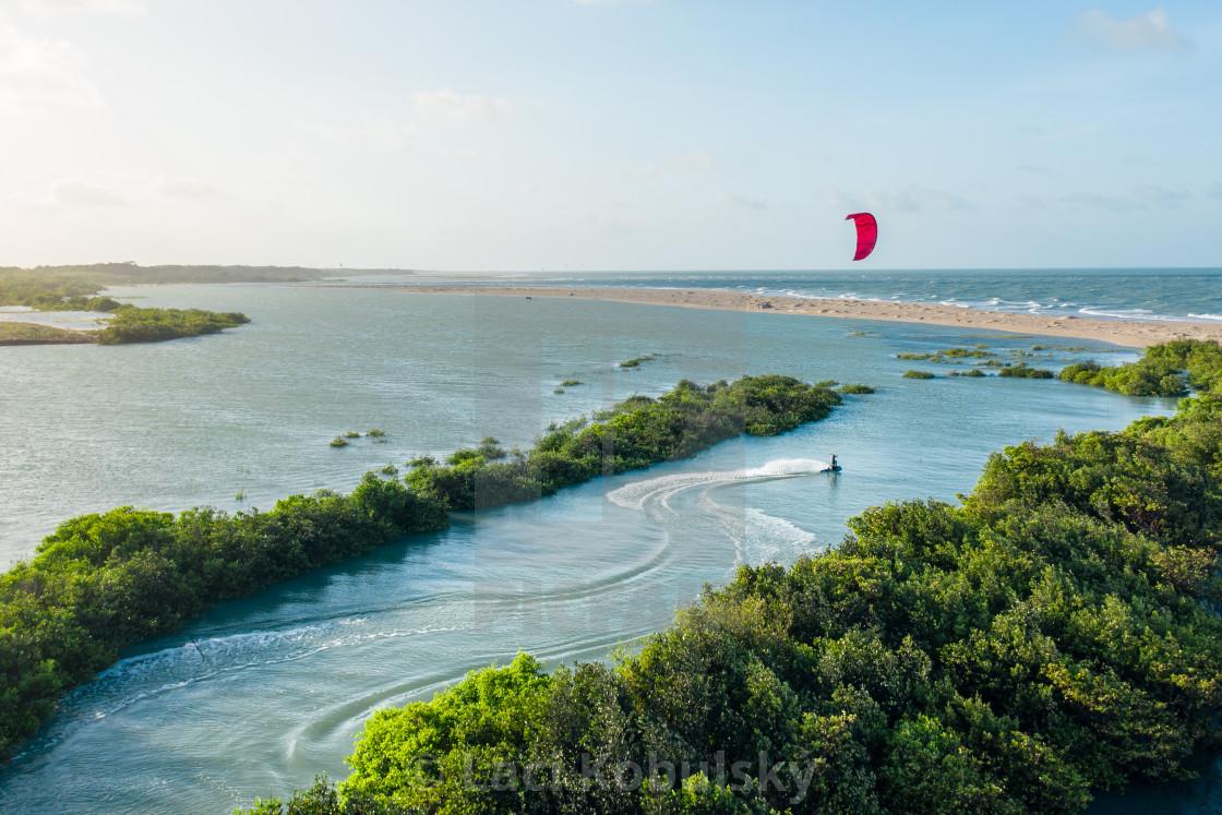 """""""Kiteboarding in Brazil"""" stock image"""