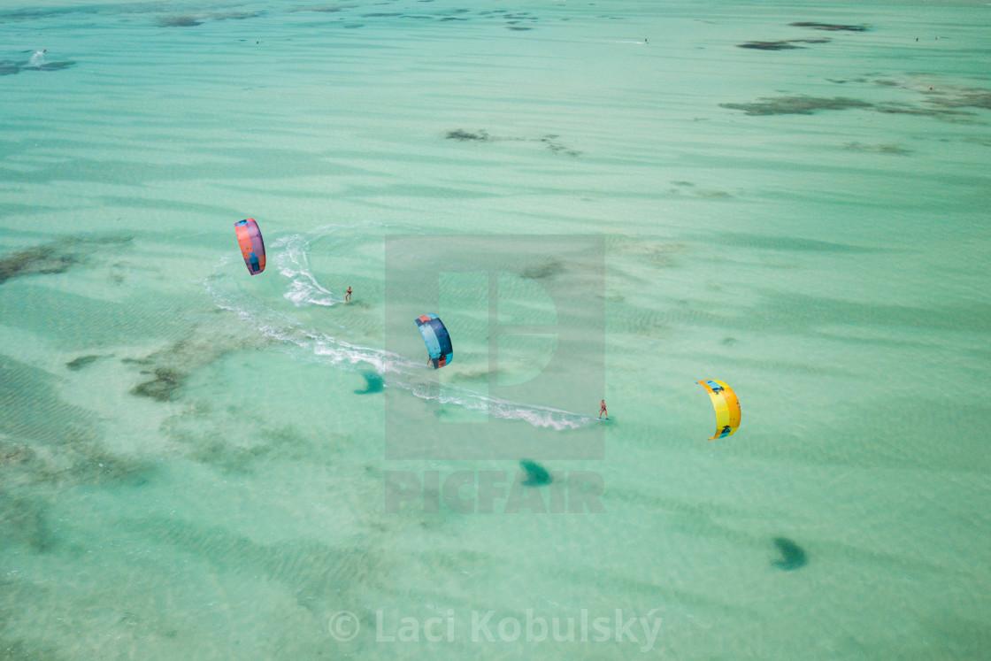"""Kiteboarding in Zanzibar"" stock image"