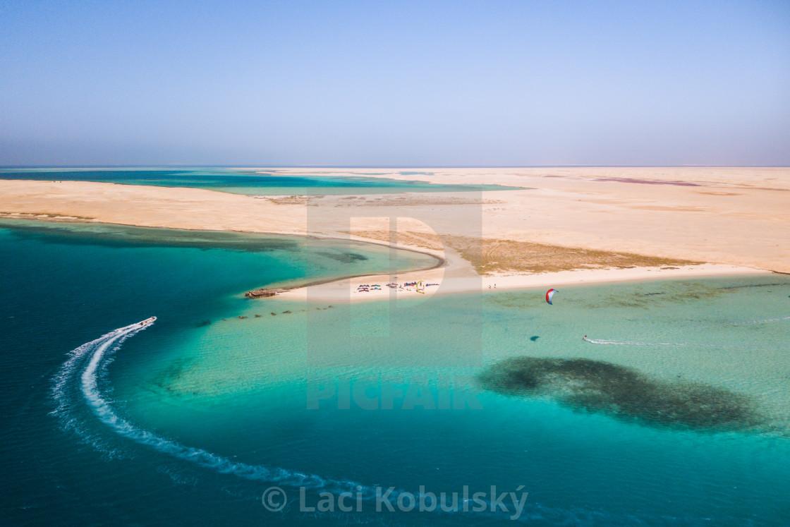 """""""Kiteboarding Egypt"""" stock image"""