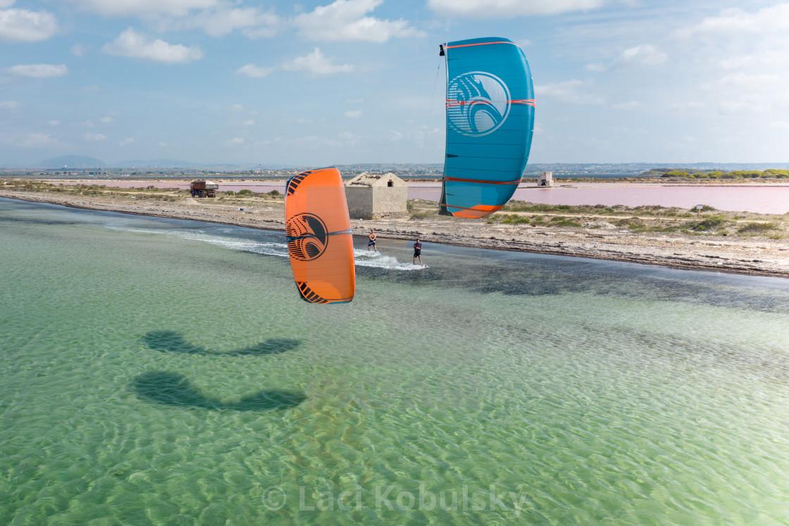 """""""Kites in Sicily"""" stock image"""