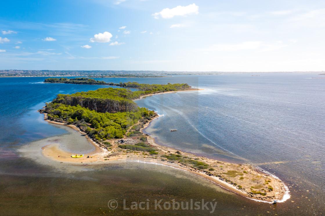 """""""Kite island"""" stock image"""