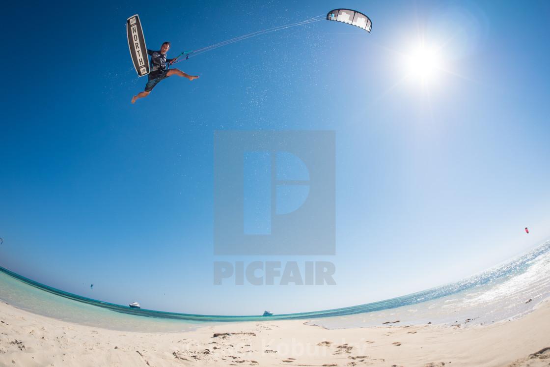 """Big air jump!"" stock image"