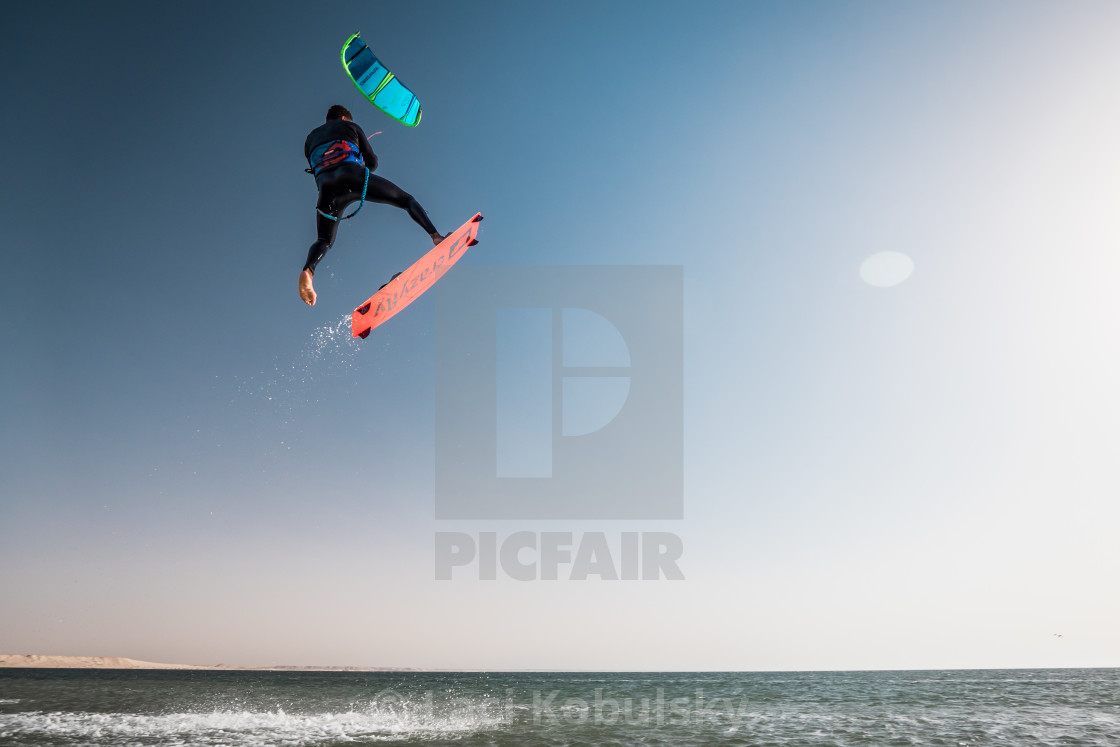 """Kite jump"" stock image"