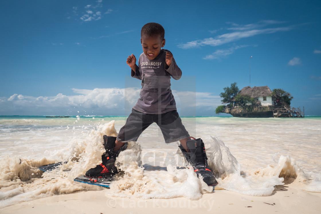 """""""Zanzibar kid"""" stock image"""