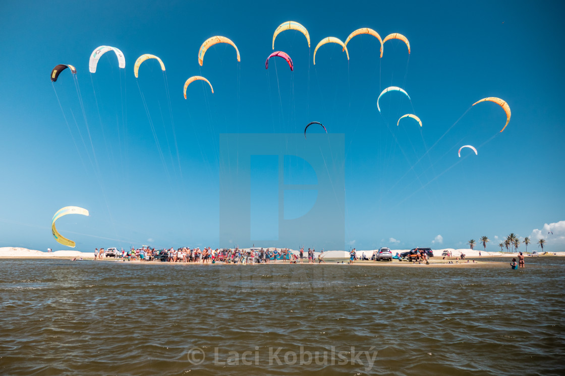 """""""Kites in sky"""" stock image"""