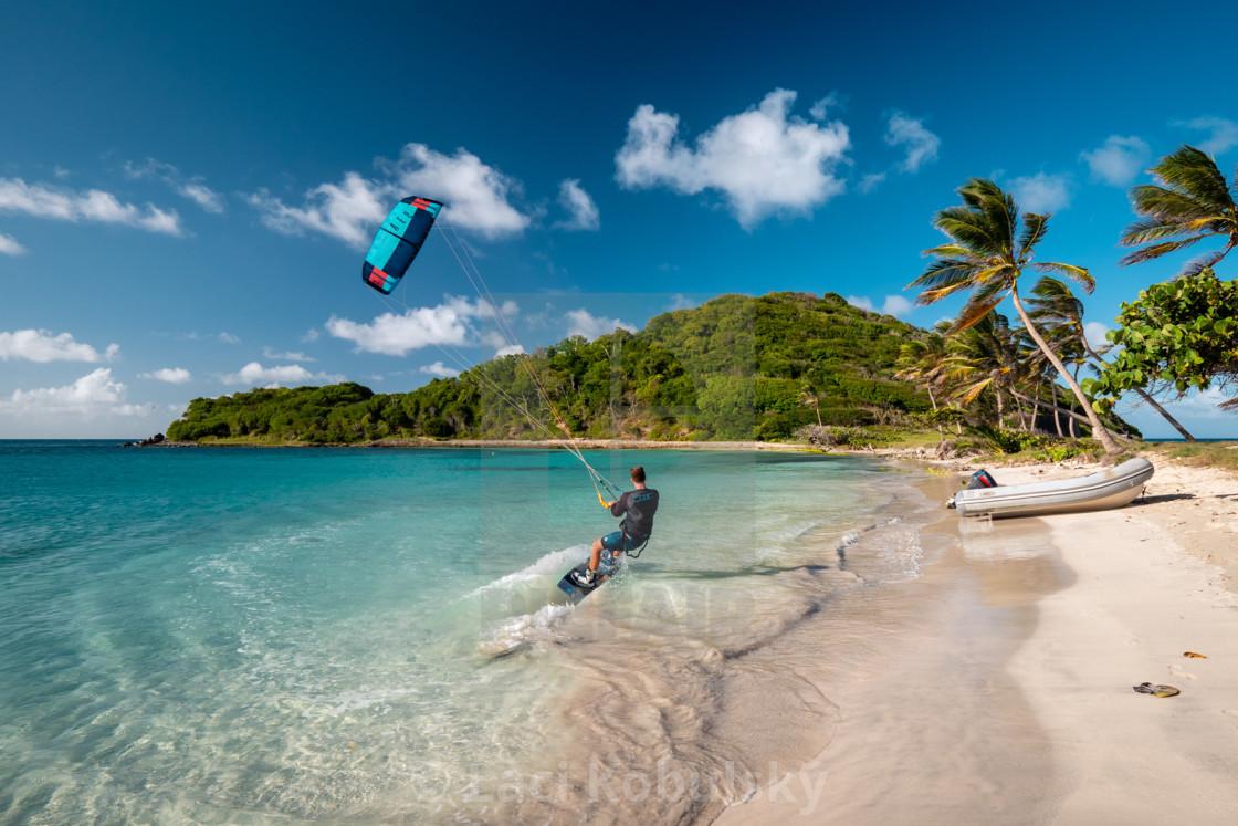 """Aaron kiteboarding"" stock image"