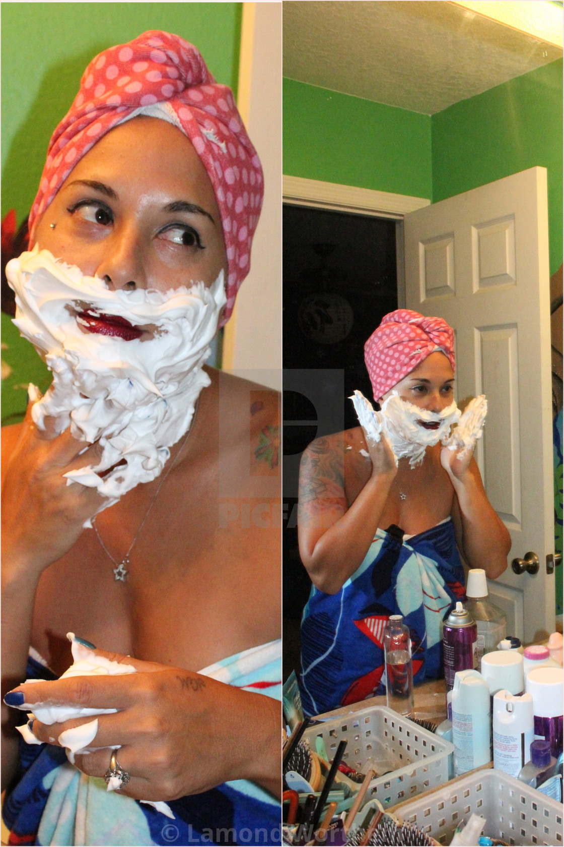 """Beauty Shaving Cream Model (3)"" stock image"