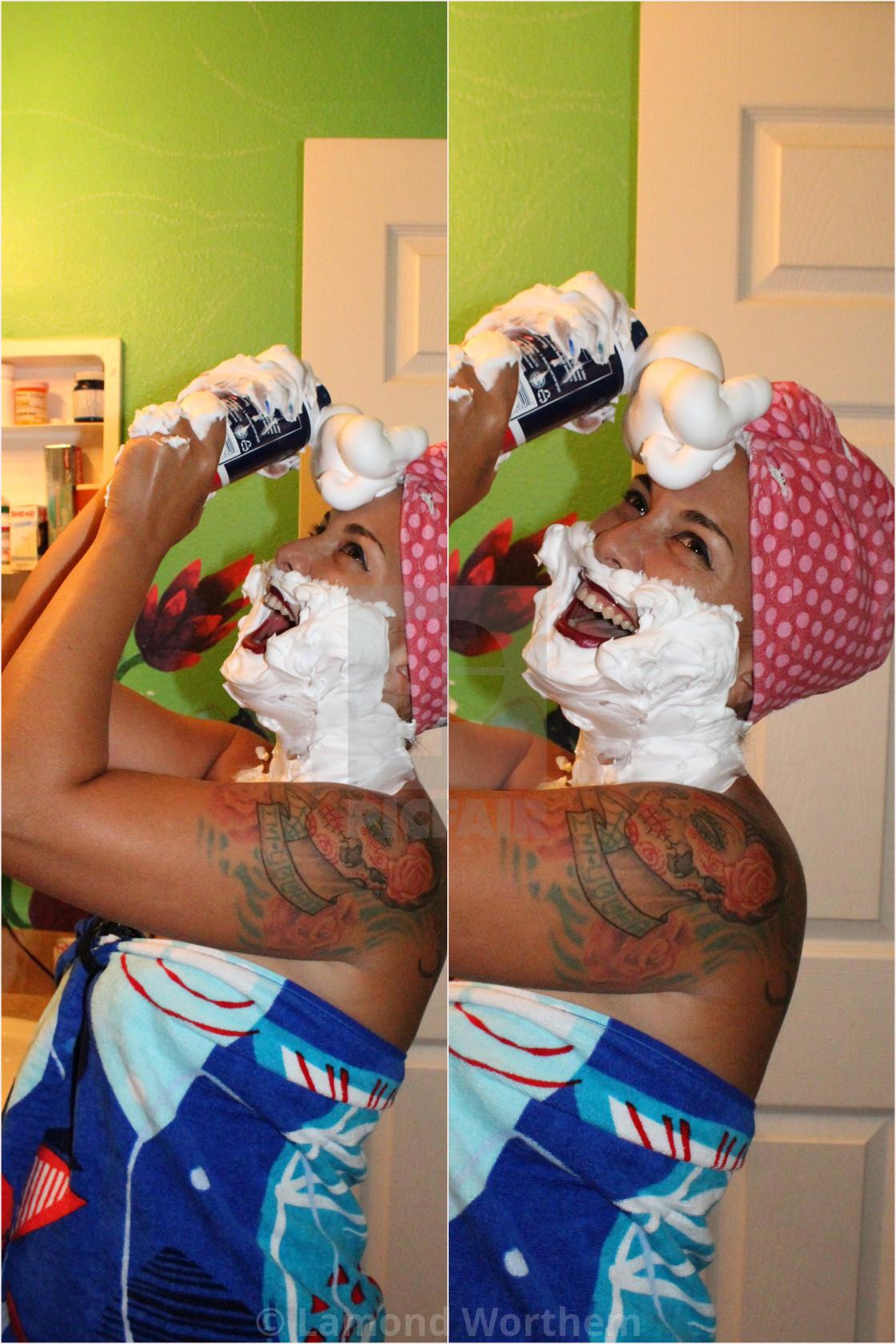 """Beauty Shaving Cream Model (4)"" stock image"