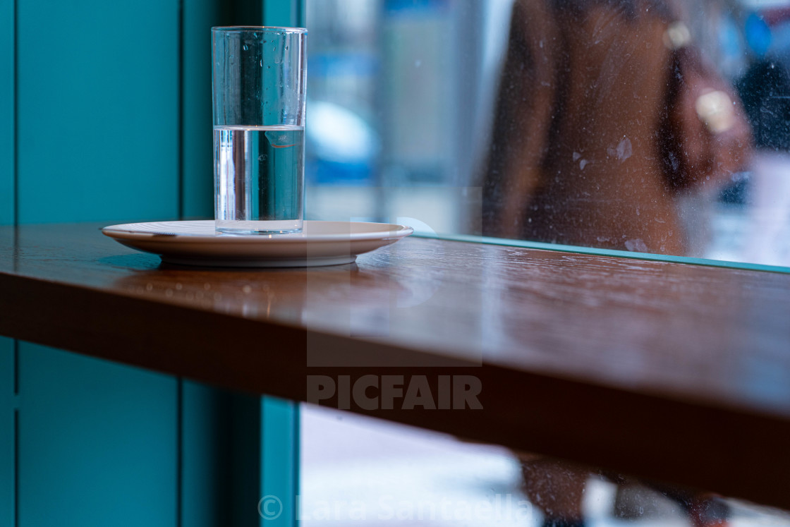 """""""A glass of water"""" stock image"""