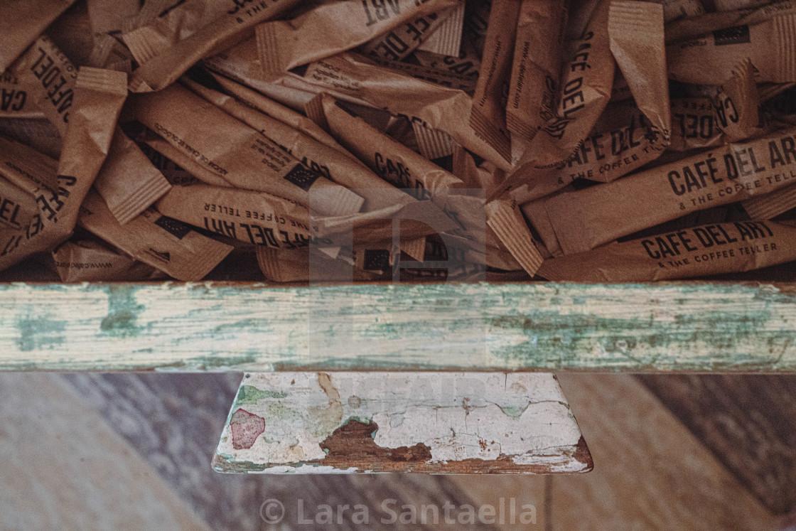 """A handful of sugar"" stock image"