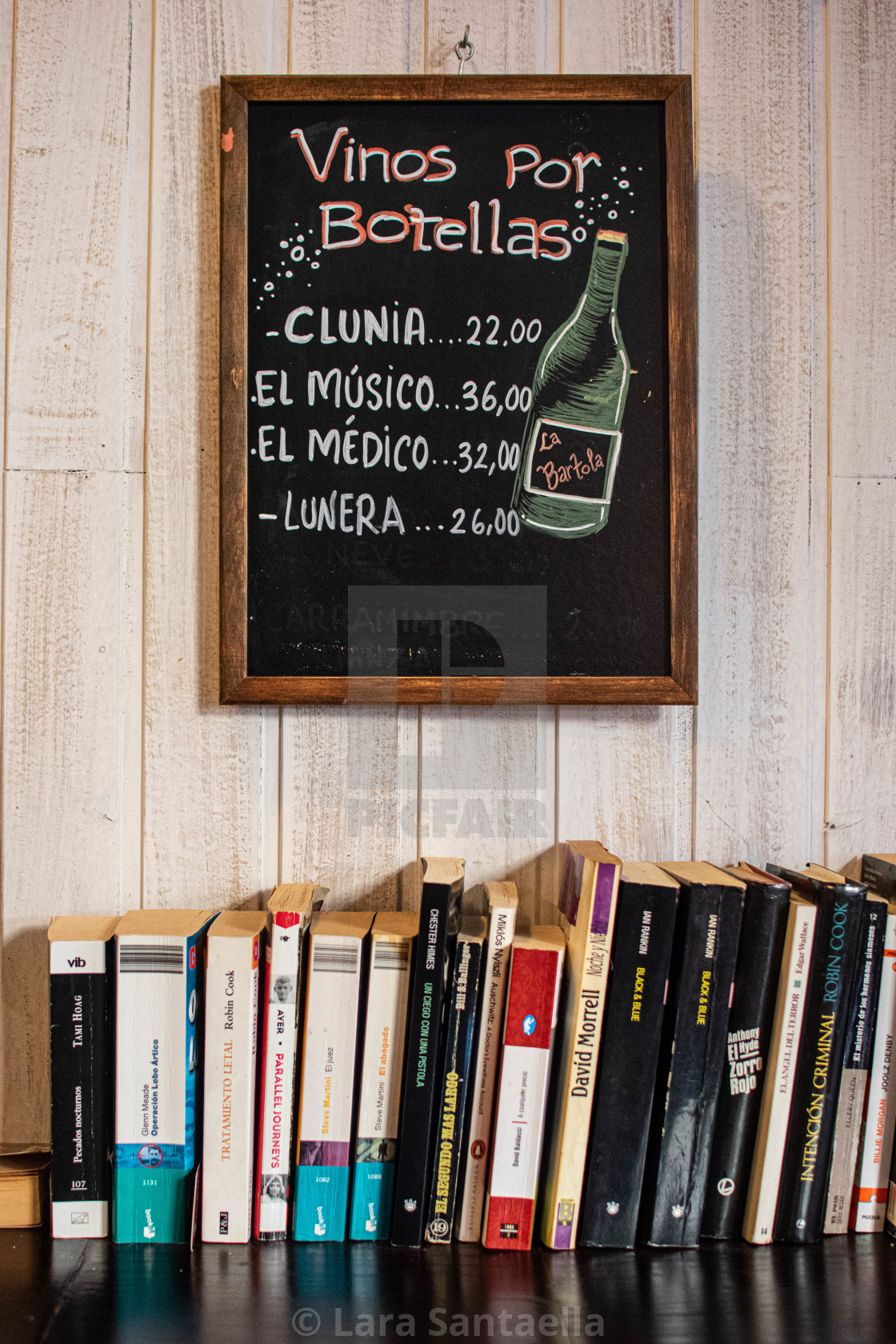 """""""Books and wine"""" stock image"""
