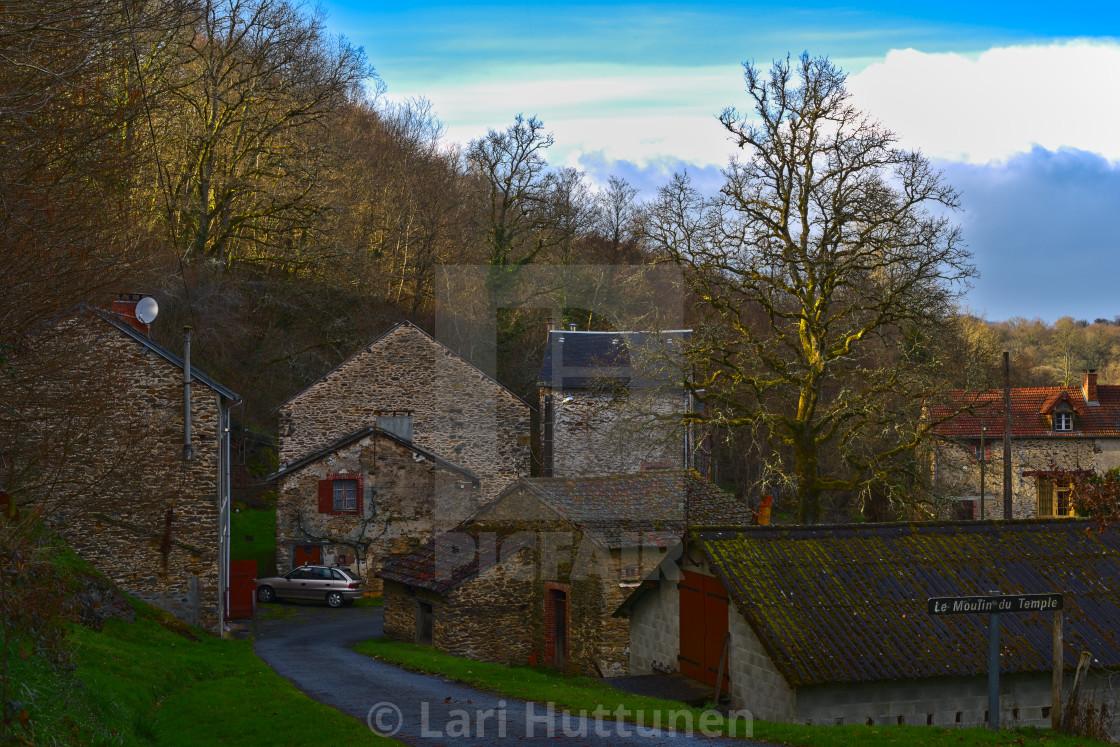 """""""Le Moulin du Temple"""" stock image"""