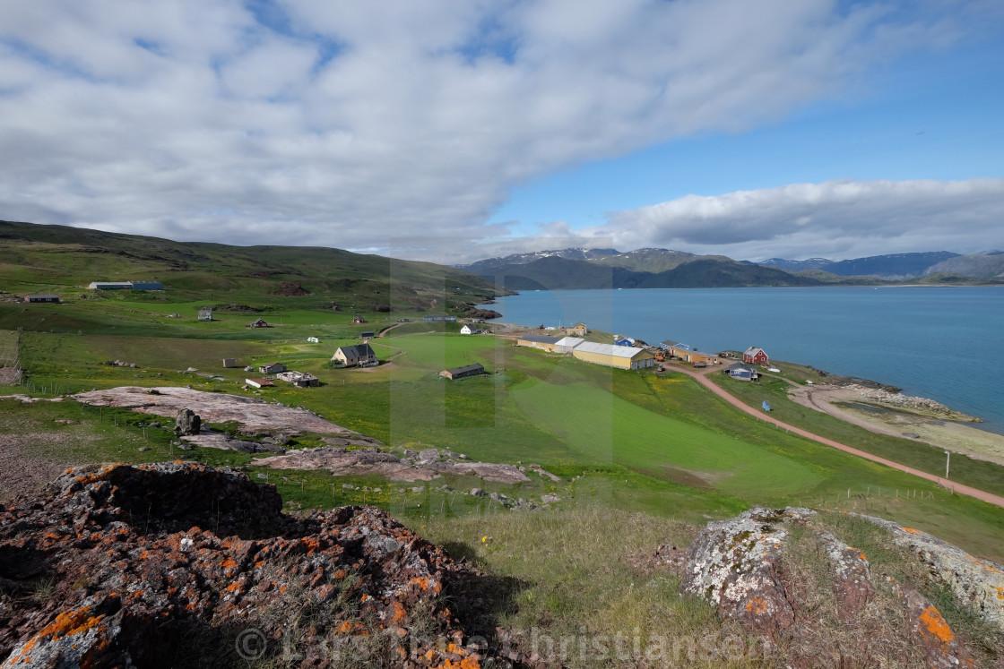 """Farm in Greenland"" stock image"