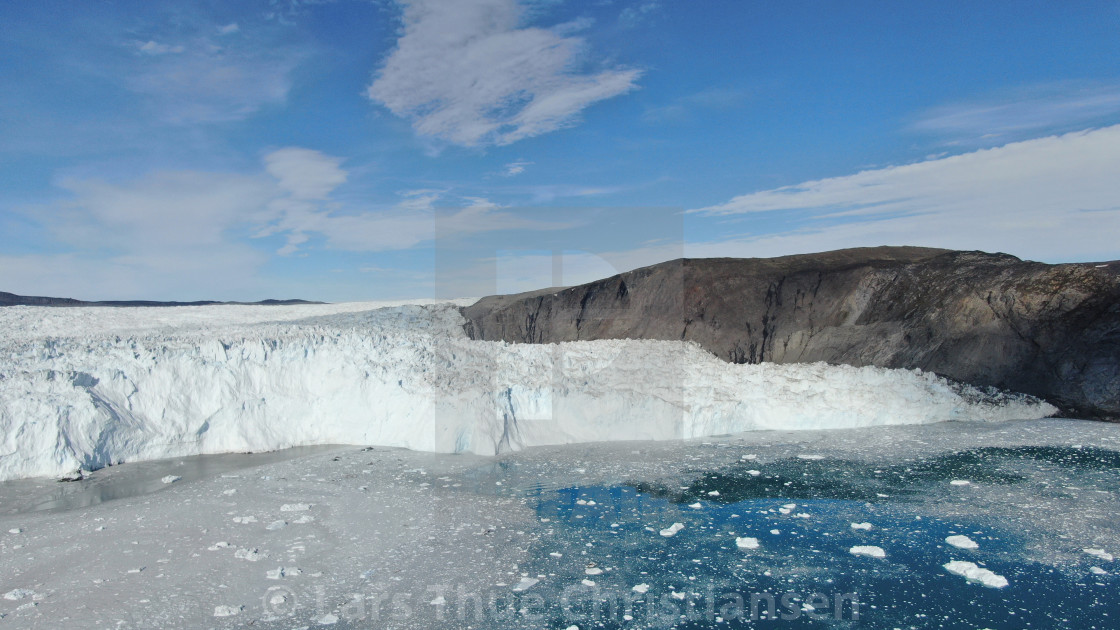 """Eqi Glacier"" stock image"